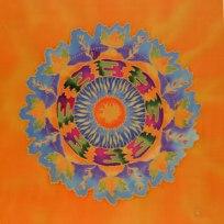 'silk painting' 'mandala art' fionastolze silkandart