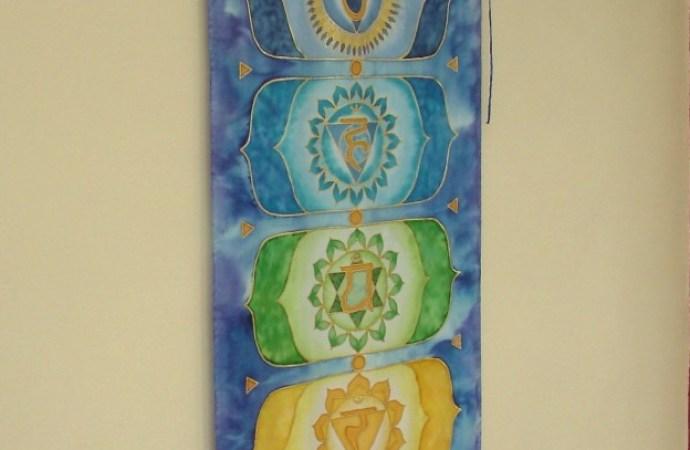 Handpainted Silk Chakra Banner