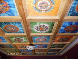 silk mandala art coffer ceiling fionastolze sikandart