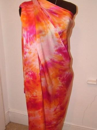 handpainted silk satin designer yardage
