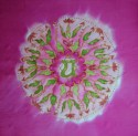 Heart chakra mandala silk painting fionastolze