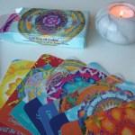 mandala oracle deck reading card set 'sea of calm' fionastolze silkandart
