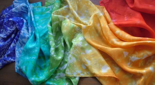 Rainbow scarf 1