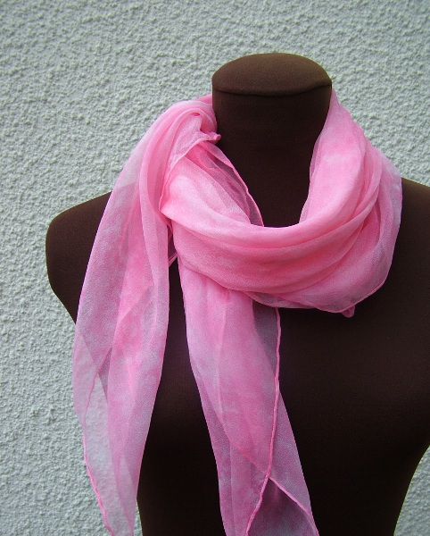 pink silk chiffon scarf fionastolze silkandart