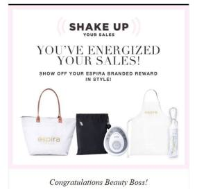 prize package from Avon