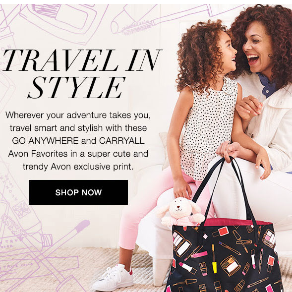 Travel in style with Avon travel bags