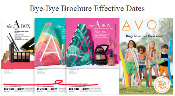 Avon Brochure effective dates will be eliminated