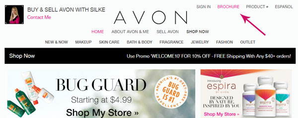 Silke Jager's Avon Store home page
