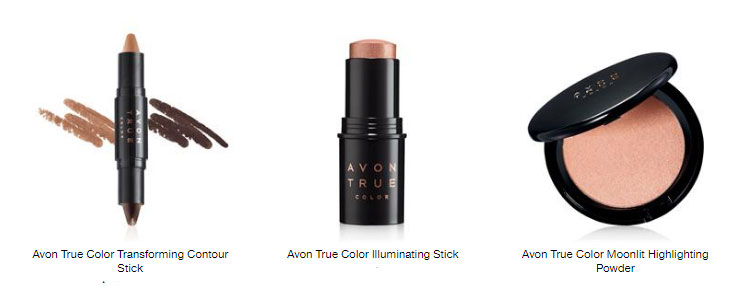 Contour and highlighting products by Avon