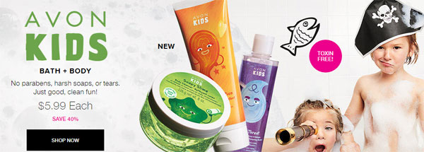 Avon kids bath and body products