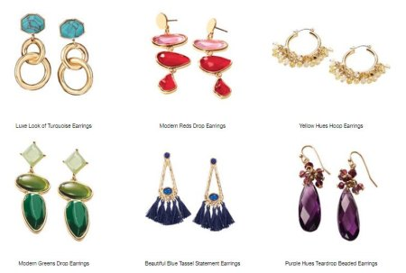 Avon Earrings for sale with colorful accents