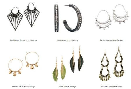Modern collection of Avon earrings