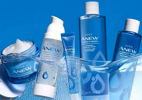 Anew HydraFusion skin care line