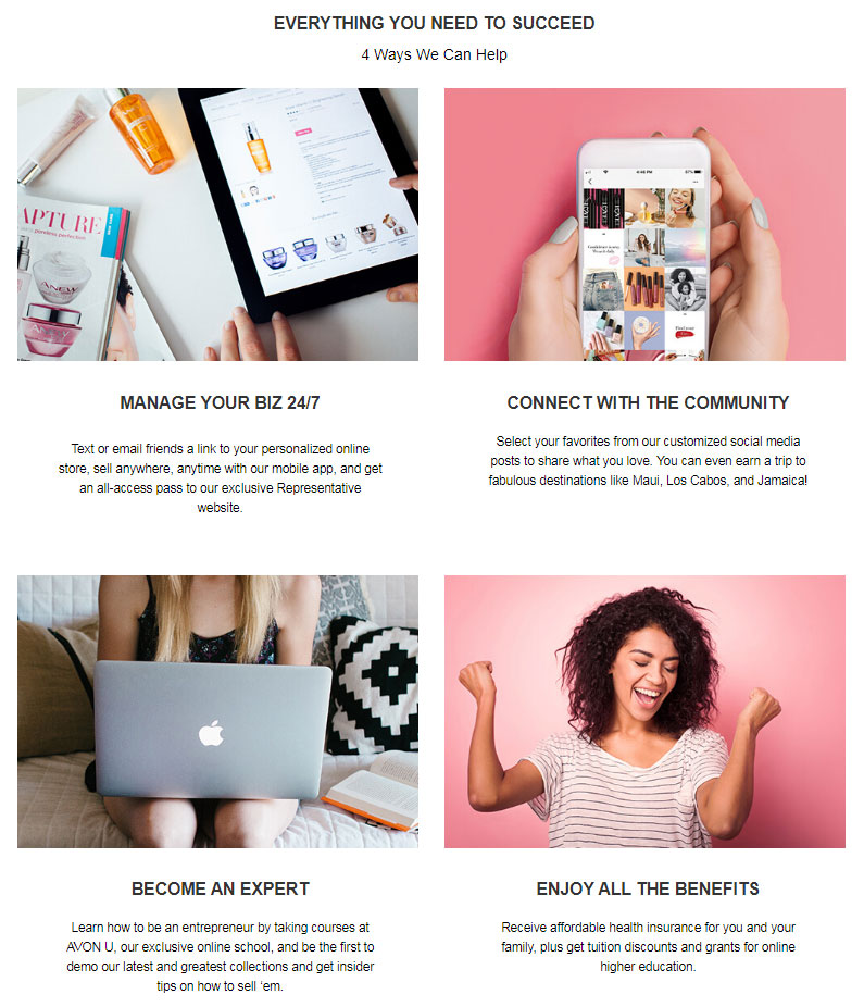 Everything you need to succeed with Avon