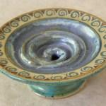 Keramik-Seifenschale mit Intarsien