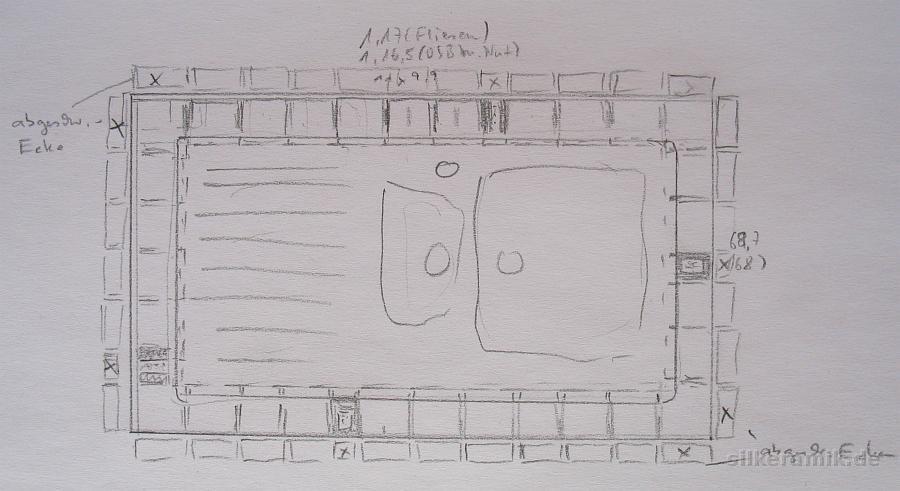 Schmuckfliesen - Zeichnung