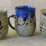 Bauchige Keramiktassen