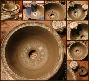 Keramik-Waschbecken Unikat