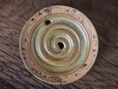 """Intarsien-Seifenschale """"Garten (mint)"""""""