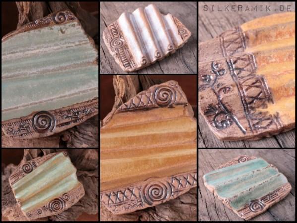 Steinzeug-Seifenablagen