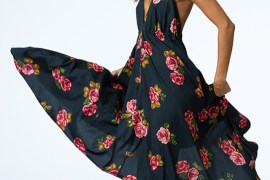 Rose Print Maxi Dress by Dancing Leopard