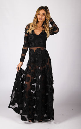 Flower Child Dress Black