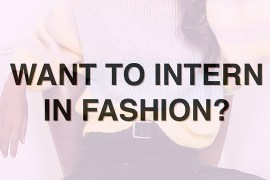 fashion internship