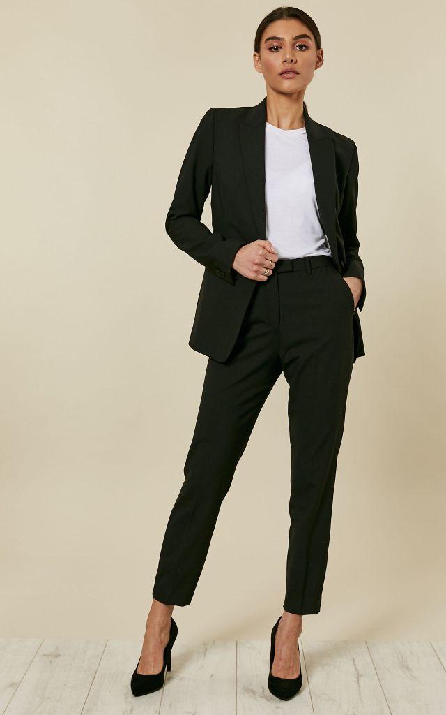Classic slim fit black suit