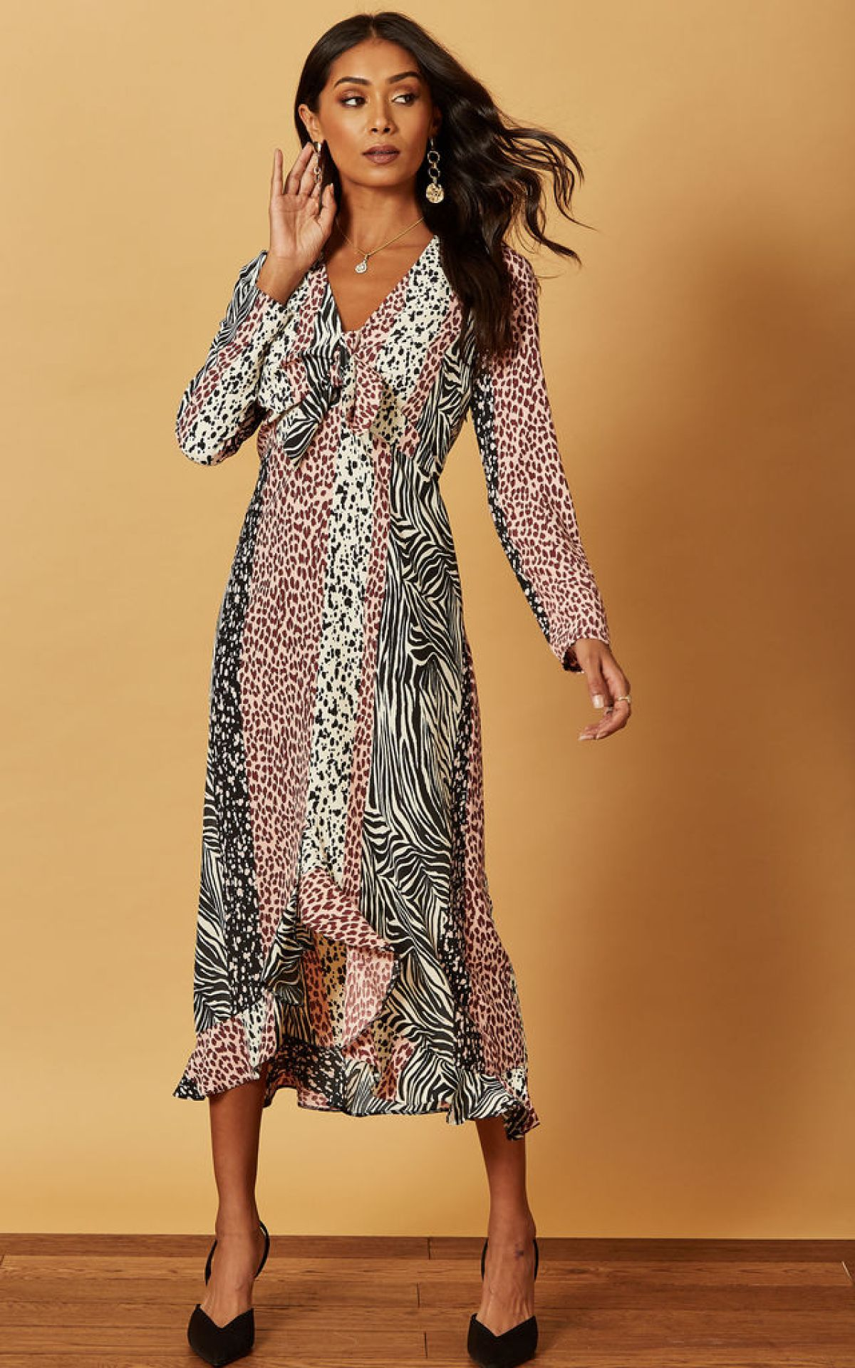 tie-front-midi-dress-in-mixed-animal-print-summer-sale
