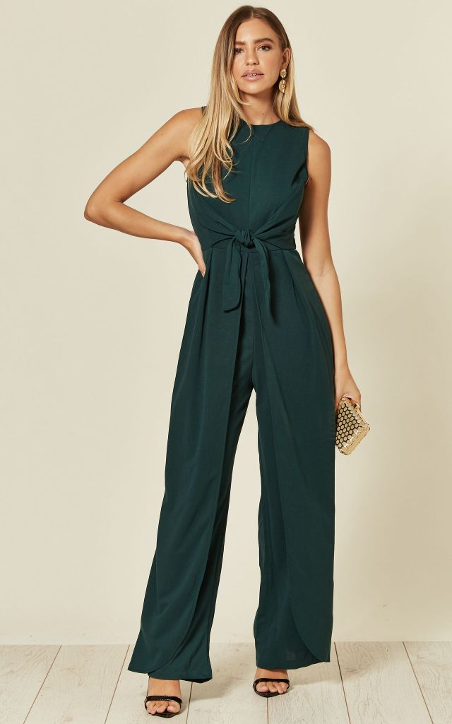 Teal jumpsuit