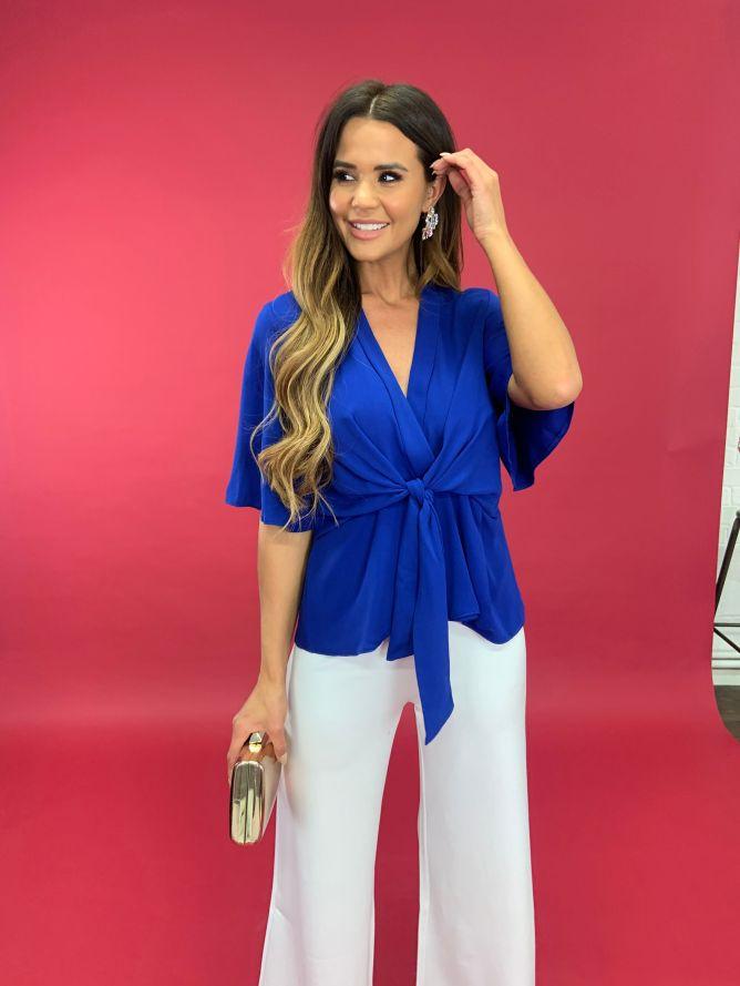 Kimono top in blue