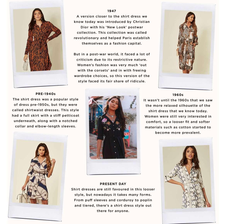 History of the shirt dress