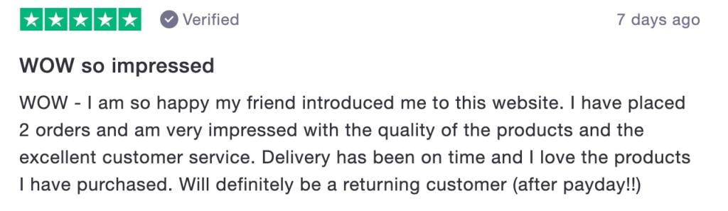 SilkFred Trustpilot Review March 2020