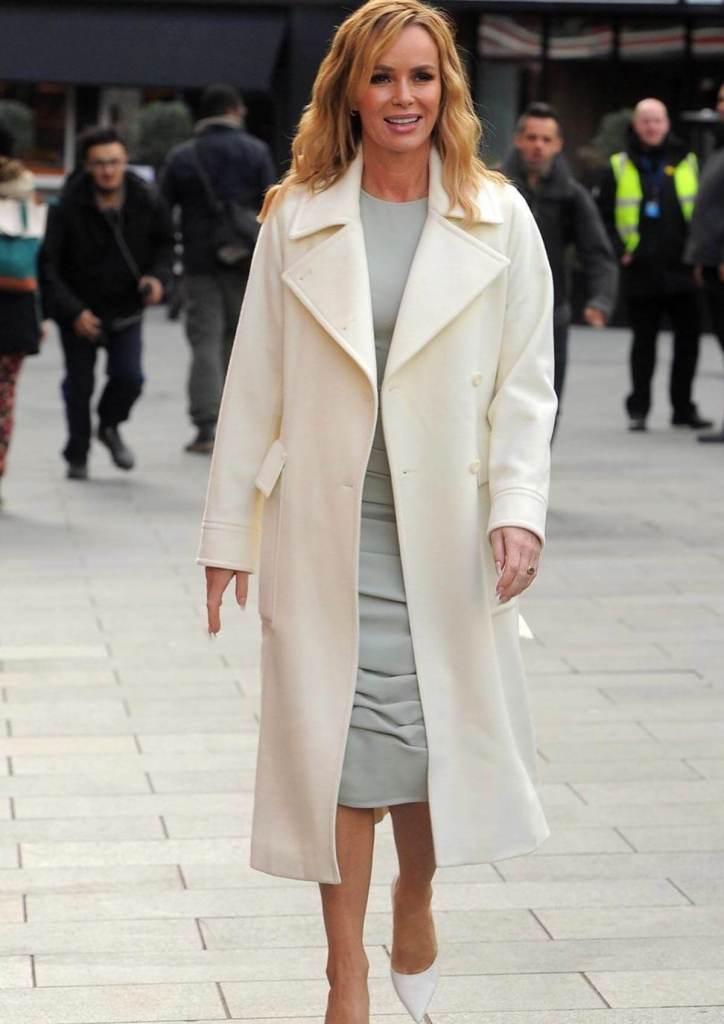 Amanda Holden Wears Sage Green Midi Dress From SilkFred