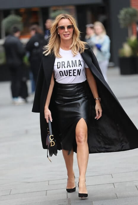 Amanda Holden wears SilkFred Drama Queen Tshirt