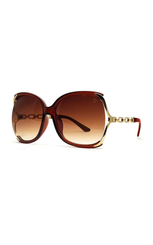 Cherry Oversized Sunglasses in Brown