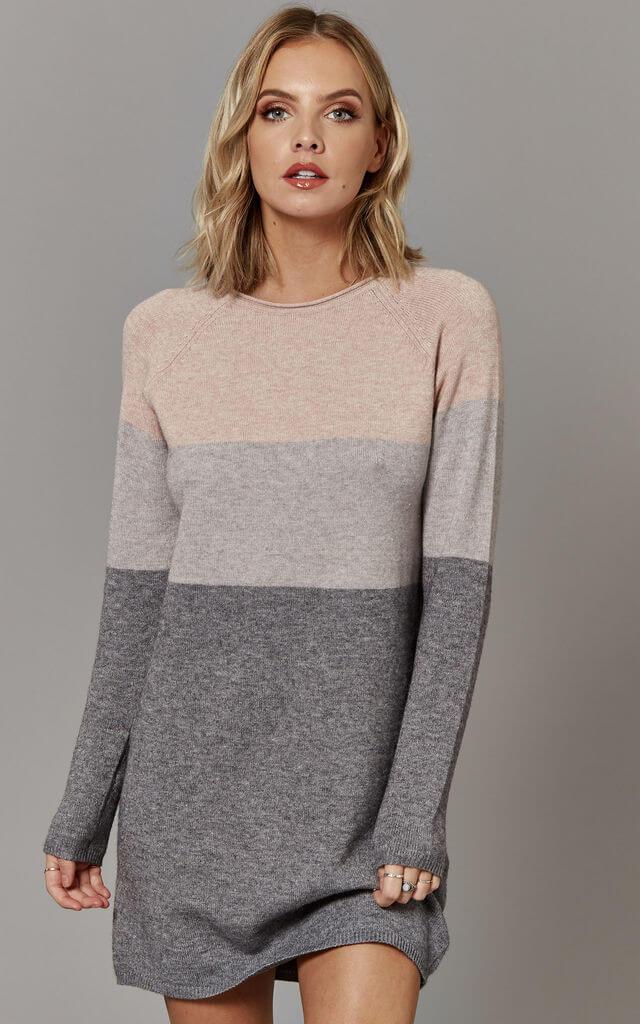 Colour Block Jumper Dress