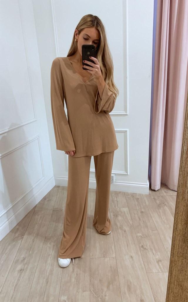 Drew Loungewear Top in Beige