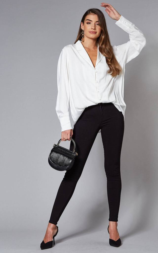 High Waisted Jeggings in Black