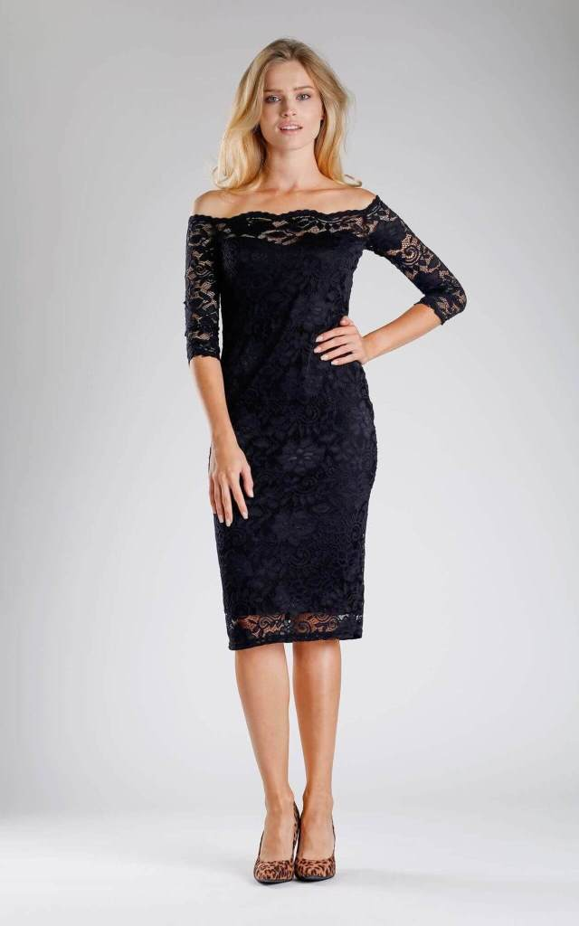 Black Lace Mother Of The Groom Dress on SilkFred