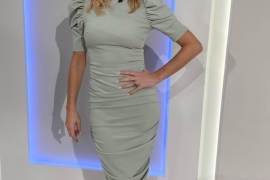Amanda Holden wears SilkFred Midi Dress