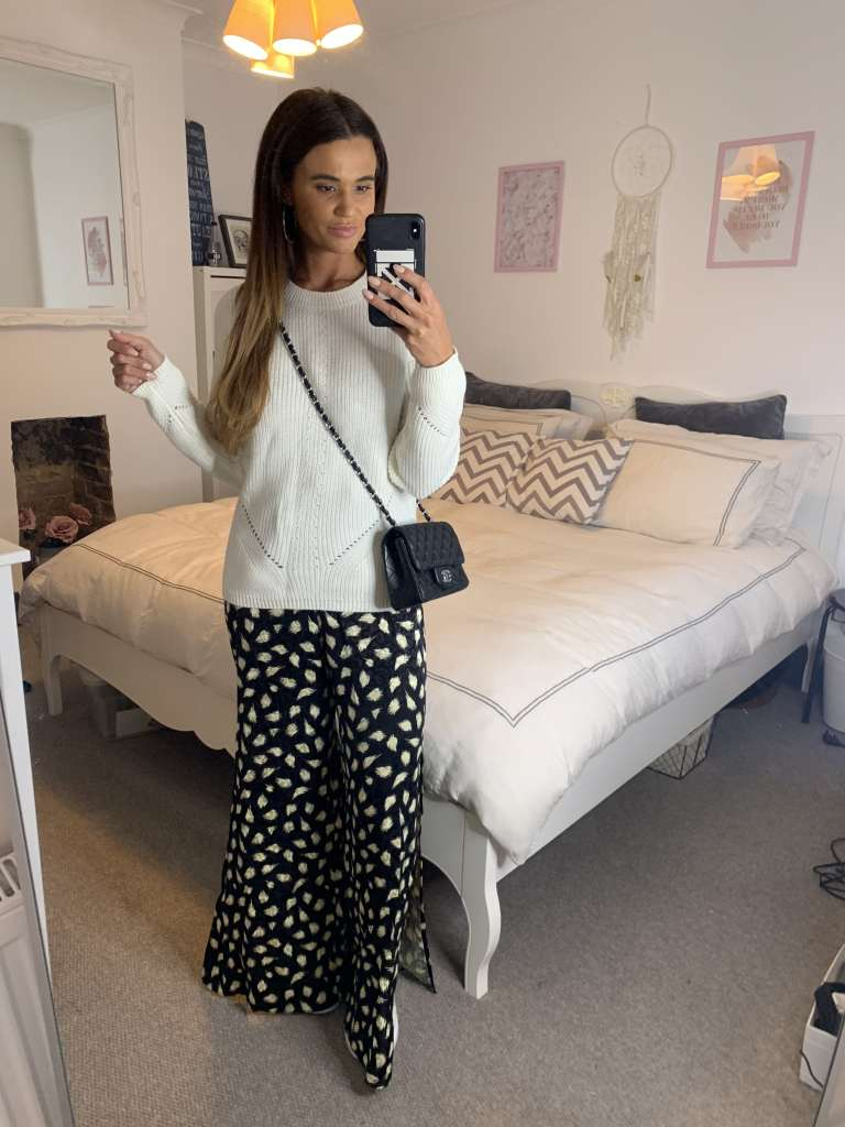 Work From Home Outfit With Jumpsuit And Jumper