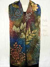 fall nature scarves for women, earth tone botanical gifts