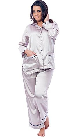 Up2date Fashion Classic Pajama Set with Piping   Front Pockets 7c3d893d1