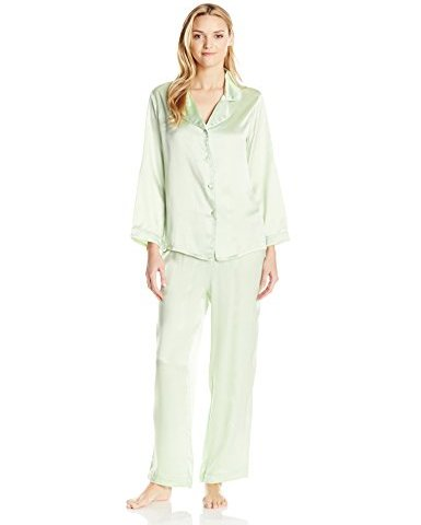 Fishers Finery Women s Classic Pure Mulberry Silk Pajama Set with Gift Box 84fc32c69