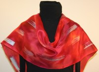 Custom-designed unique hand painted silk scarves and ...