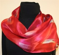 Featured silk scarves and accessories - Moroccan Red Silk ...