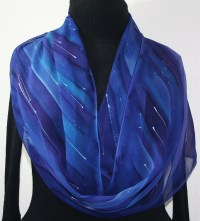 Silk Scarves Online Shop - Purple, Blue Hand Painted Silk ...