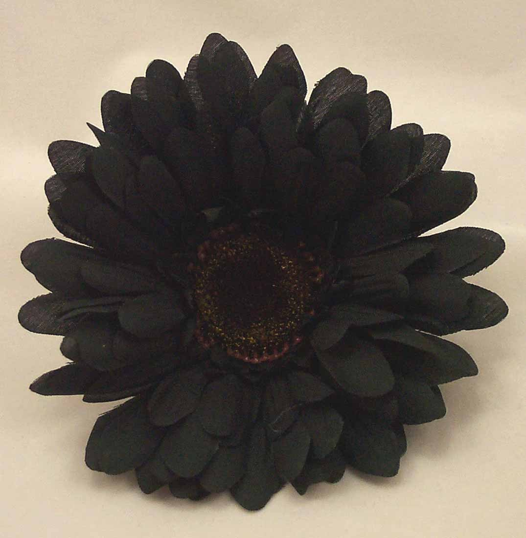 Loose Flowers  6 Silk Black Gerbera Daisies Artificial Silk Wedding Flowers
