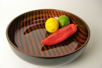 Tiger's Eye decorative wooden lacquer fruit bowl ...